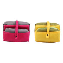Polyester cosmetic bags with multi-pocket, various colors are available