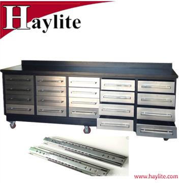 Établi de vente en acier inoxydable de 10ft chaud avec les curseurs résistants pour l'usage de garage