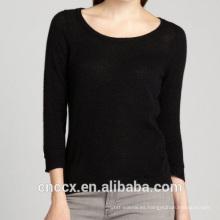 Suéter de cachemira con cuello de cuchara 15STC1005