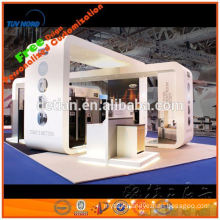 exhibitor's cosmetic booth from shanghai, 20X20 mdf booth paint finish