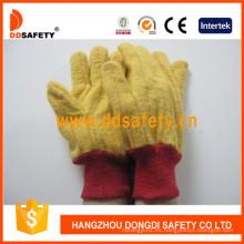 Golden Yellow Chore guante tejido guantes de seguridad de muñeca Dcd103