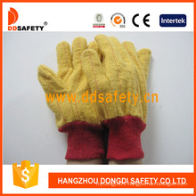Golden Yellow Chore Glove Knitted Wrist Safety Gloves Dcd103
