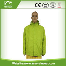 Polyester Man Rain Jacket with Zipped