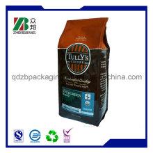 Quad Seal Zwickel Kaffee Tasche mit Einweg-Ventil