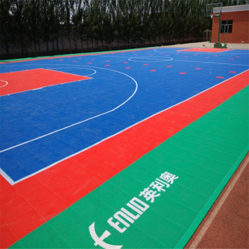 Modular Interlocking Court Fliesen Basketball Bodenbelag
