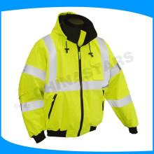 Ansi classe 2 ou 3 jaqueta de segurança reflectora com charrete