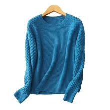 Frauen kleidung 5gg 100% kaschmir pullover O hals dicke schwere winter warme pullover kleidung
