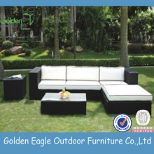 Garden Furniture Outdoor Rattan Sofa Set Black
