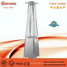 Quarzrohr Real Flame Pyramide Outdoor Gas Patio Heizung (Edelstahl)