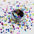 Círculo de puntos mixtos con formas de brillo redondo, Diferentes colores con formas de brillo mezcladas