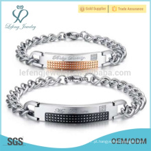 Bracelete de desgaste diário, pulseiras de aço inoxidável simples