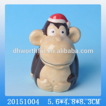 2016 new tableware ceramic cute toothpick holder with monkey shape