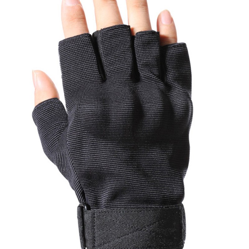 Logo Print Tactical Gloves
