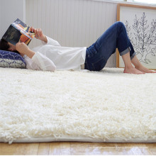 Tapis en peluche blanc et tapis en microfibre