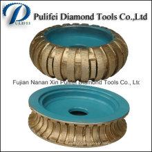 Profil Roue de meulage Fritté granit Bits de routeur de diamant Segment de jante