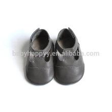 MOQ 60 pares al por mayor calzan los zapatos de bebé felices del cuero de los mocasines del bebé recién nacidos en bulto