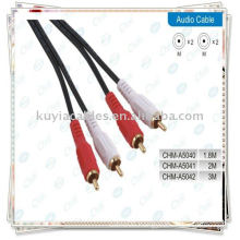 2 RCA to 2 RCA cable for Male Audio 1.5M