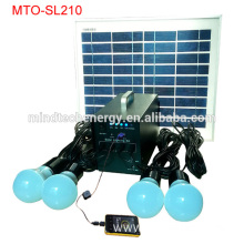 10w 4pcs bulbs mini solar home lighting system