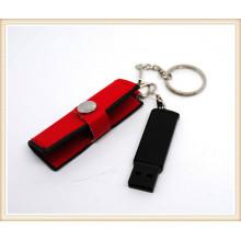 Novo modelo vermelho PU usb flash drive para laptop (el009)