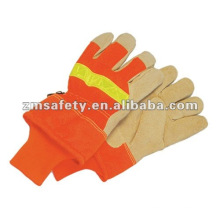ZM20-H Reflective working leather gloves