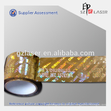 Cinta de embalaje adhesiva de holograma de aluminio