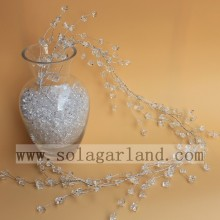 Transparent Acrylic Stone Shape Bead Garland Tree Branches