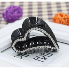 Garra de diamantes de corazón negro de alta calidad (XHJ14317)