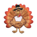 Medium Thanksgiving Turkey Iron på broderad patch