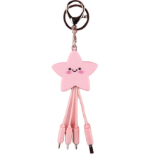 Special Star Gift  items phone cable multi function 3in1 fast charging keychain charging cable