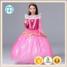 Enfants vêtements de longue longueur enfants princesse de bande dessinée personnages robes de soirée drame costumes pleine manches reine robes