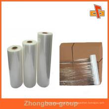 Fábrica de fabricantes de plástico de estiramiento de promoción de envoltura de película para caja de almacenamiento / embalaje de pallets de caja de China