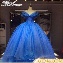 Conto de fadas Princesa vestido estilo 2017 preço de fábrica vestido de noiva com vestido de bola personalizado