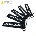 Newest cheap wholesale polyester fabric woven keychain