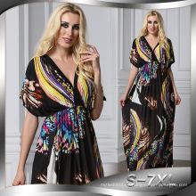 Premium Qualität Polyester Frauen Kimono muslim Kleid Abaya