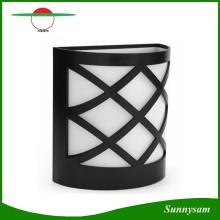 LED-Solar-Lampen-Sensor-wasserdichtes Solarlicht 6 LED-Straßenlaterne-im Freienpfad-Dach-Korridor-Wand-Lampen-Sicherheits-Punkt-Beleuchtung