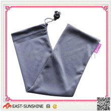 Soft Touch Microfiber Drawstring Bag with Logo Printing and Bead