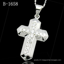 Fashion Jewelry Micro Setting 925 Silver Cross Pendant