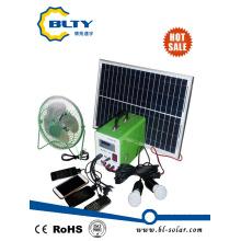 Sistema de iluminación solar para el hogar con cargador móvil