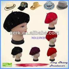Модная зимняя шапка Новая зимняя шерстяная шапочка Blank, LSW29