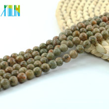 L-0134 Wholesale China Unakite loose unakite beads,green gemstone beads