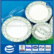 bright green colored kitchenware China dinnerware