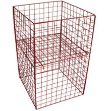 Melhor preço dever claro recipiente armazenamento gaiolas de arame com alta qualidade