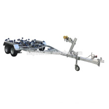 Remolque galvanizado doble del esquí del jet del doble del eje resistente pesado barato