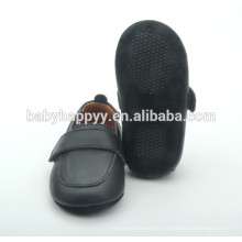 wholesale new design black shoes boy baby crib shoes