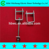 Hot dip galvanized line hardware high voltage D iron D bracket for power fitting