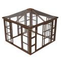 Wood Kit House Glass Plant Aluminum Patio Cover