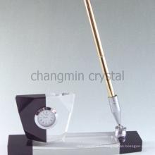 Porte-stylo en acrylique transparent élégant de luxe