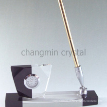 Suporte de caneta de acrílico cristalino elegante luxo
