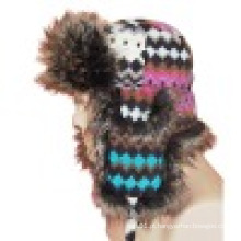 Chapéu de inverno com pele feita pelo homem (VT033)