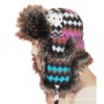 Зимняя шапка с искусственным мехом (VT033)